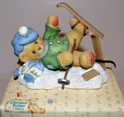 "Christmas Cherished Teddies  ""Spencer - I'm Head Over Skis For You"" 1997"