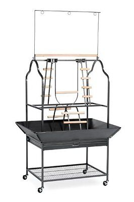 NEW Prevue Hendryx 3180 Pet Products Parrot Playstand Black Hammertone