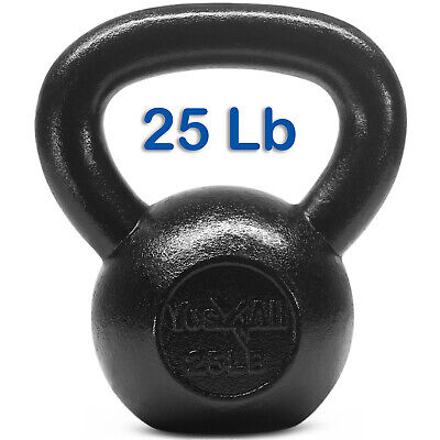 Yes4All 25 lb Kettlebell Weights for Workout - Solid Cast Iron Kettlebells