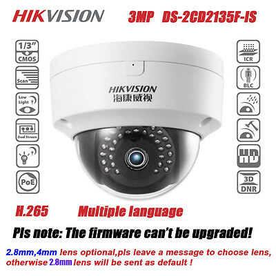Hikvision DS-2CD3132-I HD 3MP IP66 IR Network Mini Outdoor Dome IP Camera POE