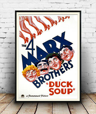 Duck soup,  The Marx Brothers, vintage movie poster reproduction.