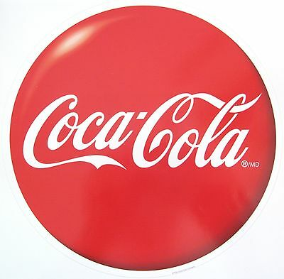 "2 ~ Coca  Cola 8"" Button Decals / Stickers"