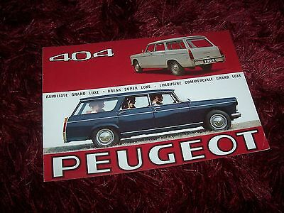 Catalogue / Brochure PEUGEOT 404 break / Familiale & Commerciale 1965 //