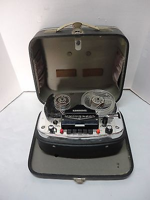 Vintage Uher Universal S Reel To Reel Tape Recorder / Player / Case W. Germany