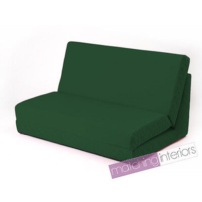 Green Fold Out Z Bed Double Chair 2 Seat Sofa Guest Bed Mattress Futon Student