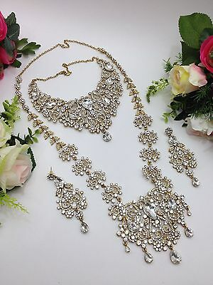 Indian Jewellery Bollywood Asian Bridal 6 Piece Jewellery Set