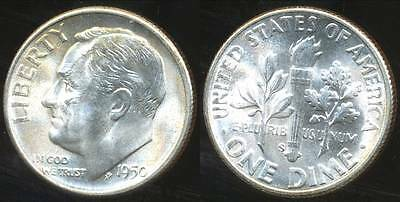 United States, 1950-S Dime, Roosevelt (Silver) - Choice Uncirculated