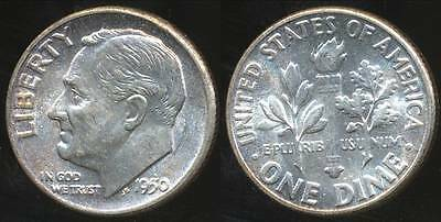 United States, 1950 Dime, Roosevelt (Silver) - Choice Uncirculated