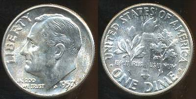 United States, 1957 Dime, Roosevelt (Silver) - Choice Uncirculated