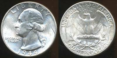United States, 1944 Quarter, Washington (Silver) - Uncirculated