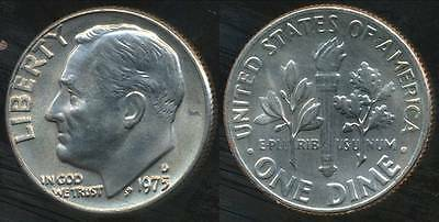 United States, 1975-D Dime, Roosevelt - Uncirculated
