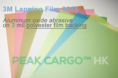 3M Flat Lapping Polishing Film Sheets 261X Precision Finishing Abrasive Paper