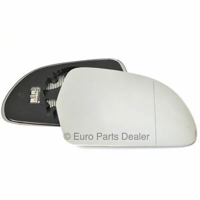 Driver Side WIDE ANGLE HEATED WING MIRROR GLASS Skoda Octavia 2009-13 Clip On