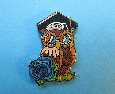 Gratefully Wise Owl 2.0 pin w/ glow in dark eye bolts. Grateful Dead lsd phish