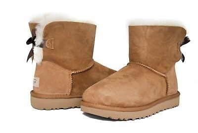 UGG Australia Women's Mini Bailey Bow Boots II Chestnut Sz 5-11 NEW Version