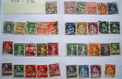 (WK59) 1854-2001 Switzerland collection approx 250stamps F/U (B)