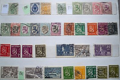 (WK21) 1889-1996 Finland approx 80stamps F/U (A)