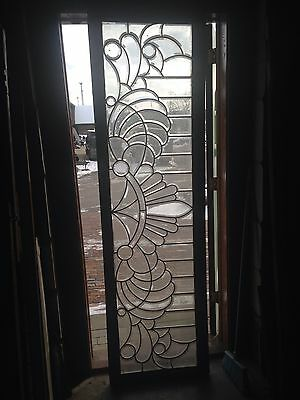 Sg 47 Extra Long Antique Beveled Glass Transom Window
