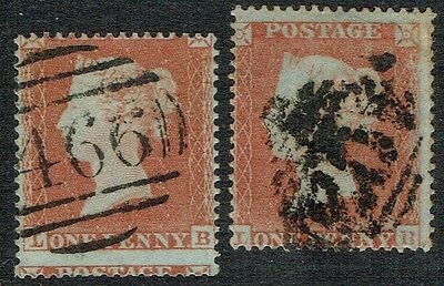 1854 1d Red Pl 173 LB State 1 and 2 Fine Used