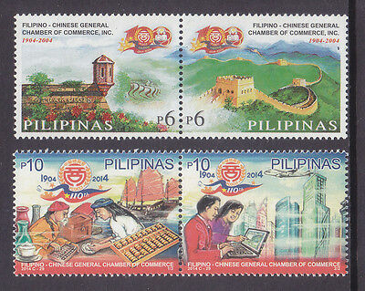 Philippines Stamps 2014 MNH Chamber of Commerce pair-set + 2004 Centenary set