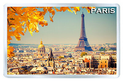 Autumn In Paris France Mod2 Fridge Magnet Souvenir Iman Nevera