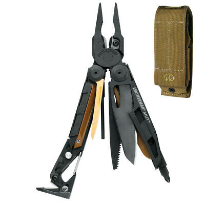 Leatherman Mut Black Military Stainless Steel Multitool + Sheath  *brand New*