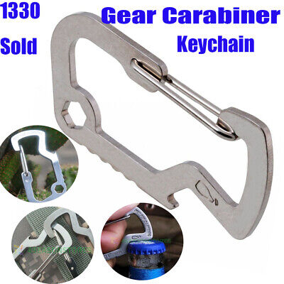 EDC Carabiner Survival Camping Hiking Rescue Gear Mini Keychain Multi Tool