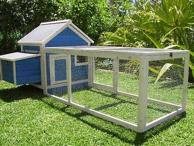 Chicken Coop Somerzby Blue Cottage Rabbit Hutch Guinea pig cage large run