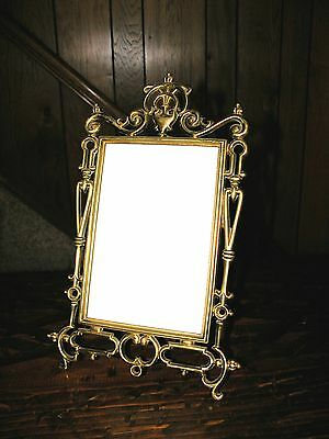 Large Antique Brass (possibly Bronze?) Picture/Photo Frame with Rear Easel
