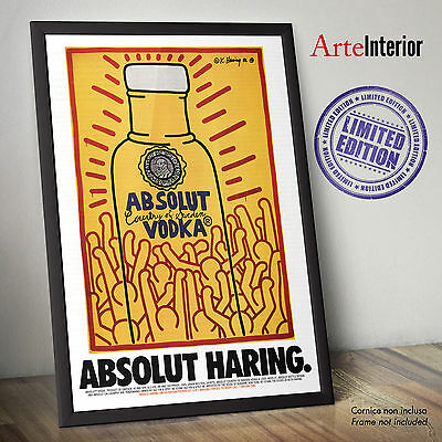 Poster ABSOLUT Keith Haring - Stampa Fine Art POP ART Alta Risoluzione VODKA