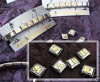 Bracelet with name 7 Letters for Nomination Classic Line Stainless Steel Gold