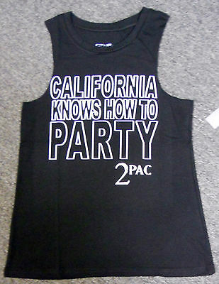 1b3ab9a3aed71 NWT LADIES TUPAC 2 PAC california KNOWS HOW TO PARTY tank SLEEVELESS TEE -  Med