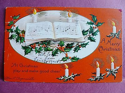 Old Postcard Merry Christmas Clapsaddle 1908