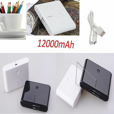 12000/20000mAh Backup External Battery USB Power Bank Charger for Cell Phones