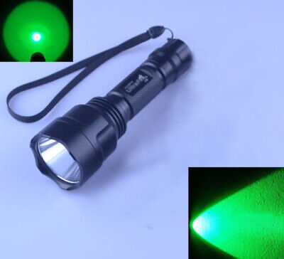 UltraFire C8 CREE XPE LED 1 Mode Green Light LED Signal Hunting Flashlight Torch