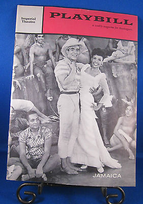 "Vintage Playbill ""JAMAICA"" for The Imperial Theatre October 31, 1957 Lena Horne!"
