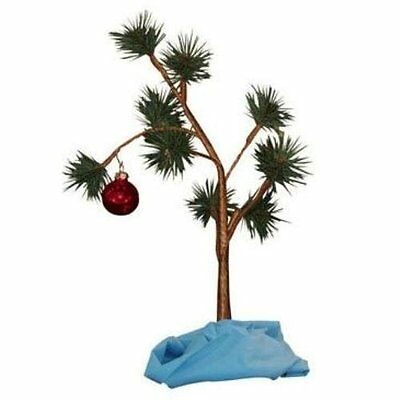 """Charlie Brown Christmas Tree with Blanket 24"""" Tall (Non-Musical) NEW, Free Ship"""
