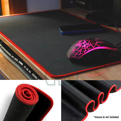 Extended Gaming Mouse Mat / Pad XXL Large Black Mousepad Stitched Edges 60x30cm