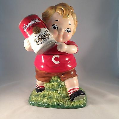 Vintage Campbell's Kids Boy W/ Tomato Soup Cookie Jar, Large!