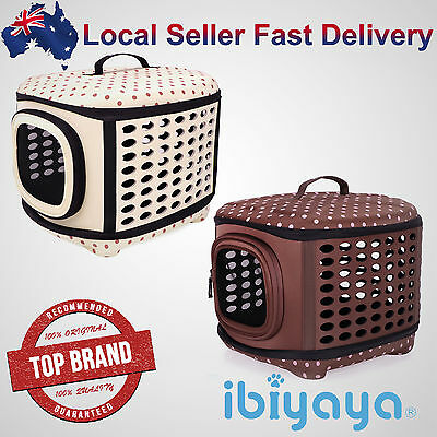 Portable Collapsible Pet Dog Cat Carrier Crate Cage Travel Hand Bag Light Weight
