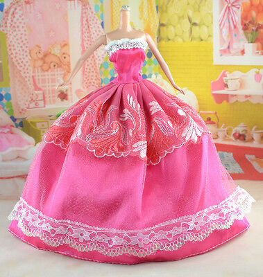 hot New Handmade Party Clothes Fashion Dress for Noble Doll *y22