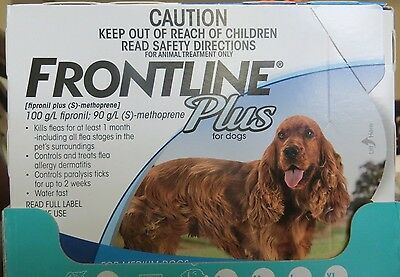 Frontline Plus For Dog 23-44 lbs 6 Doses Supply Medium GUARANTEE - Free Shipping