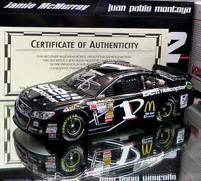 JAMIE MCMURRAY 2013 BELL HELLICOPTER 1/24 ACTION NASCAR DIECAST AUTOGRAPHED