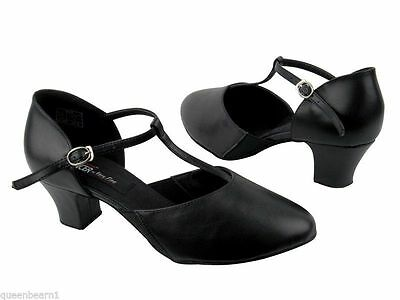 Women's Ballroom Salsa Latin Practice Leather Very Fine Dance Shoes CD1113