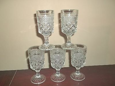 Anchor Hocking Wexford Water Goblets (5)