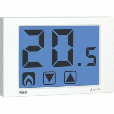 Ve432100 Thalos  Termostato A Batterie Touch Screen Da Parete Bianco Vemer