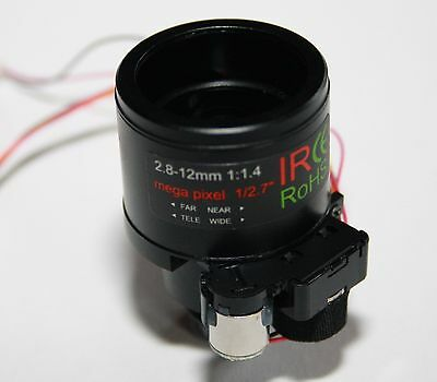 2.8mm -12mm Varifocal Auto Iris Infra Red CCTV Board Lens with Switchable IR Cut