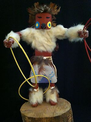 """1980'S AUTHENTIC NAVAJO KACHINA DOLL~7.5"""" TALL~ """"Hoop Dancer""""~ by Frances Yazzie"""