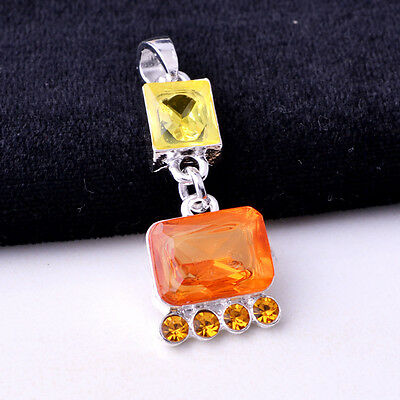 faddish Topaz Charming S80 Silver Necklace Pendant  *BXL-701