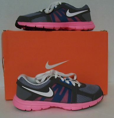 NWB NIKE KIDS FUSION ST 2 (PS) CHILDS GIRLS ATHLETIC SHOE SIZE11c GRAY,PINK,TEAL
